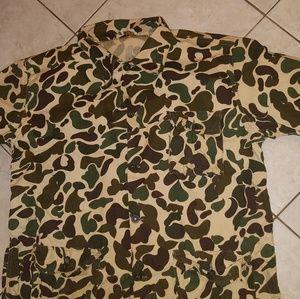 Vtg duck camo shirt sz.large